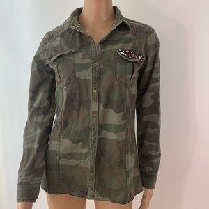 Élodie women army shirt size S